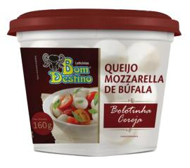 Queijo Bom Destino Mozzarela Bolinha Cereja Búfala 160g