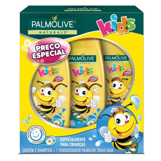 2 Shampoos + 1 Condicionador Palmolive kids 350ml cada - Imagem em destaque