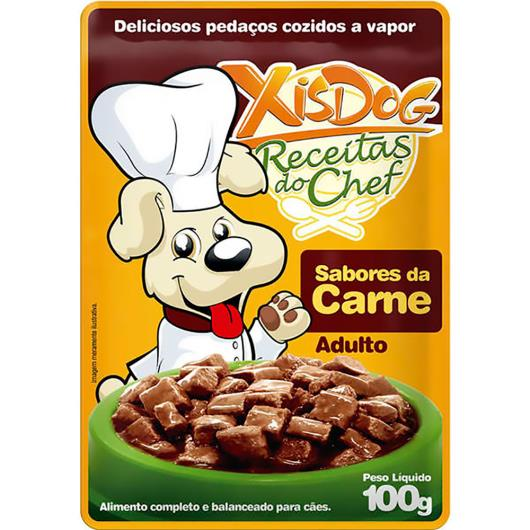 Alimentos para Cães Xisdog Adulto Carne 100g - Imagem em destaque