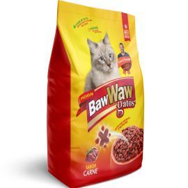 Alimento pra Gatos Baw Waw Premium Adulto Carne 500g