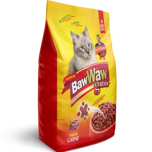 Alimento pra Gatos Baw Waw Premium Adulto Carne 500g - Imagem em destaque