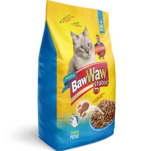 Alimento para Gatos Baw Waw Premium Adulto Peixe 500g - Imagem em destaque