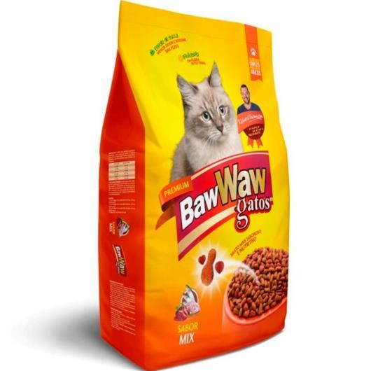 Alimento para Gatos Baw Waw Premium Adulto Mix 500g - Imagem em destaque