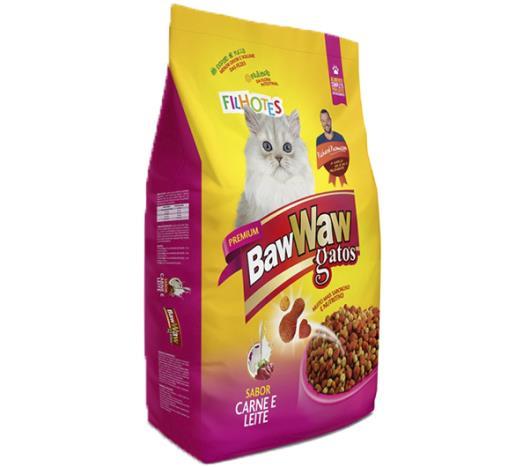 Alimento para Gatos Baw Waw Premium Filhotes Carne e Leite 500g - Imagem em destaque