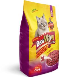 Alimento para Gatos Baw Waw Castrados Carne 500g