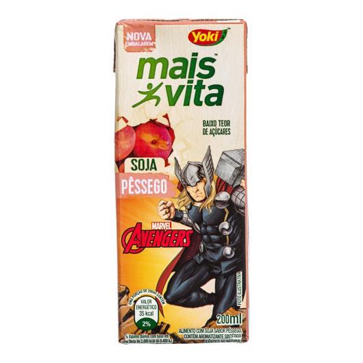 Alimento Soja Yoki Mais Vita Pêssego Avengers 200ml - Imagem em destaque
