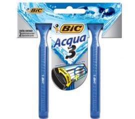 Aparelho de Barbear Bic Acqua Azul 2 unidades