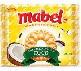 Biscoito Mabel Amanteigado Coco 330g