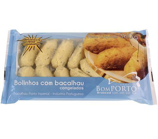 Bolinho de Bacalhau Congelado Bom Porto Gourmet 360g - Imagem em destaque