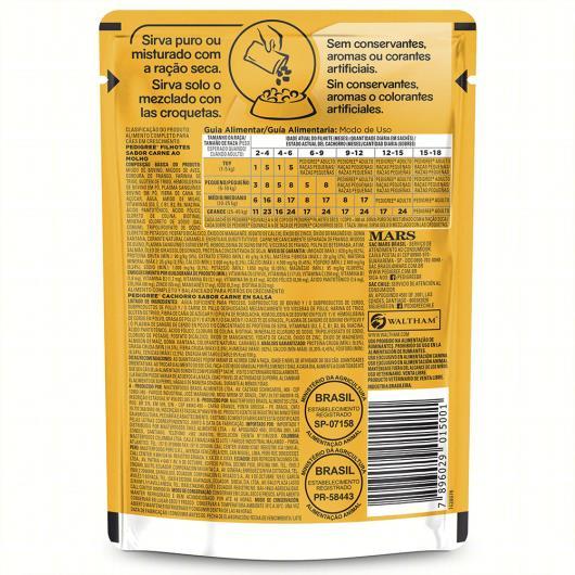 Alimento para Cães Filhotes Carne ao Molho Pedigree Sachê 100g - Imagem em destaque