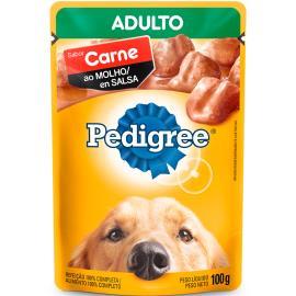 Alimento para Cães Pedigree Adultos Carne ao Molho Sachê 100g