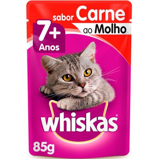 Alimento para gatos Whiskas Carne ao Molho Sachê 7 Anos 85g - Imagem em destaque