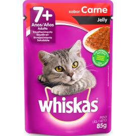 Alimento para gatos Whiskas Carne sachê +7 anos 85g