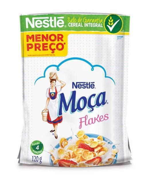 Cereal Matinal MOÇA Flakes 120g - Imagem em destaque