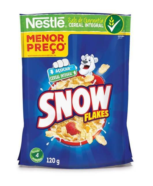 NESTLÉ SNOW FLAKES Cereal Matinal Sachê 120g - Imagem em destaque