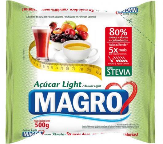 Açúcar Magro Light com Stevia Refil 500g - Imagem em destaque