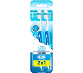 Escova Dental Oral B 30 Indicator Macia 2 unidades