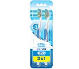 Escova Dental Oral B 40 Indicator Macia 2 unidades