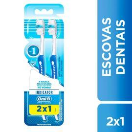 Escova Dental Oral-B Indicator Macia 2 unidades