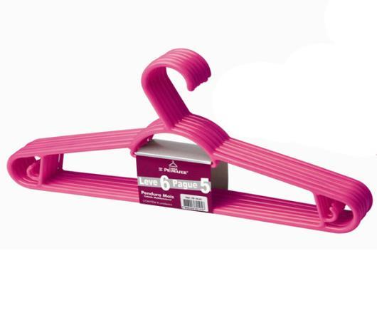 Cabide Primafer Pendura Mais Rosa Leve 6 Pague 5 - Imagem em destaque