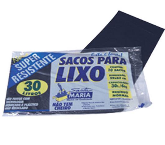 Saco Lixo Santa Maria 30 Litros Preto com 10 Unidades - Imagem em destaque