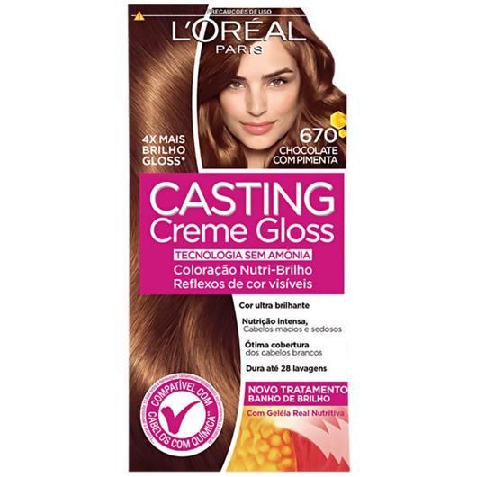 Coloração Casting Creme Gloss 670 Chocolate com Pimenta - Imagem em destaque