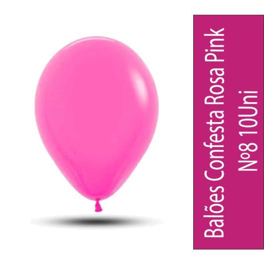 Baloes Confesta Rosa Pink N°8 Com 10uni - Imagem em destaque