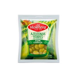 Azeitona Verde com caroço La Violetera Sachê 100g
