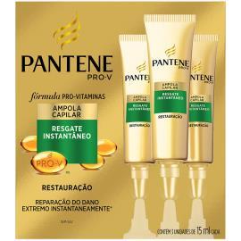 Ampola de Tratamento Pantene Restauração Resgate Instantâneo 3un 45ml