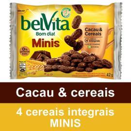 Biscoito Belvita Cacau e Cereais Mini 42g