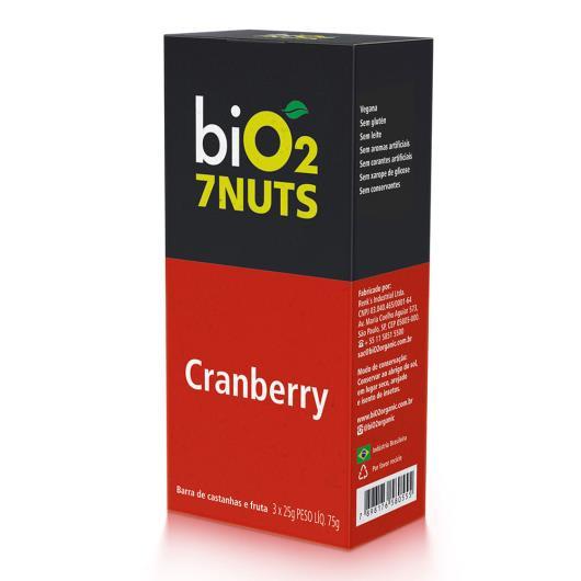 Barra Bio2 7Nuts Cranberry + Castanhas 75g - Imagem em destaque