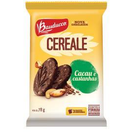Biscoito Bauducco Cereale Integral Cacau e Castanhas 78g