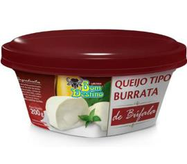 Queijo Bom Destino Tipo Burrata Búfala 200g
