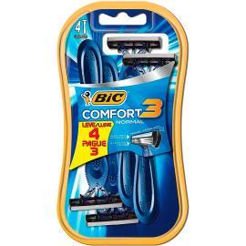 Aparelho de Barbear Bic Comfort 3 Normal Leve 4 Pague 3
