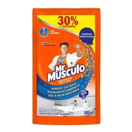 Desinfetante Mr. Músculo Banheiro Total 400ml Refil 30% de Desconto