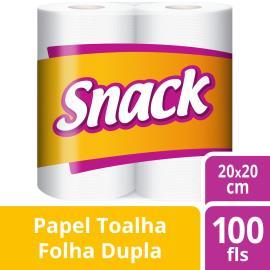 Papel Toalha Snack com 2 rolos 50 Folhas cada