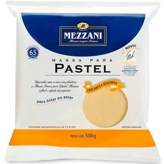 Massa para Pastel discão grande Mezzani 500g - Imagem em destaque