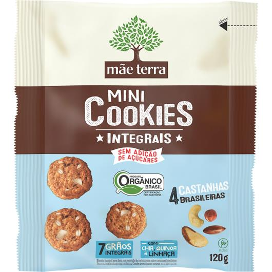 Cookie Mãe Terra 4 Castanhas Brasileiras Orgânico 120g - Imagem em destaque