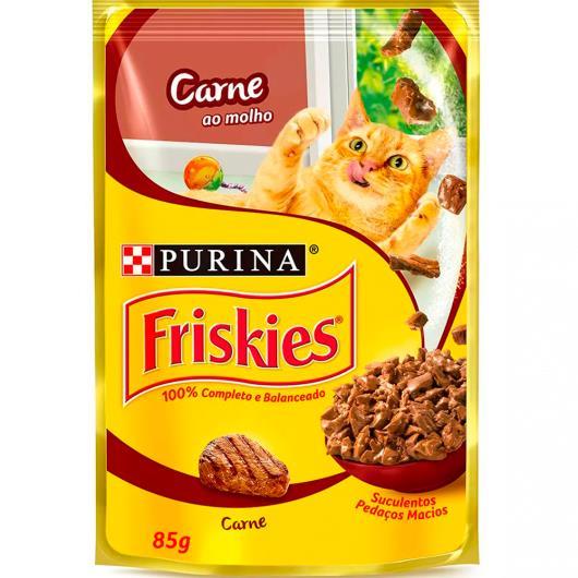 Alimento para Gato Friskies Adulto Carne ao Molho Sachê 85g - Imagem em destaque