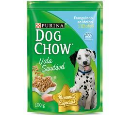 Alimento para Cães Dog Chow Filhote Frango ao Molho 100g