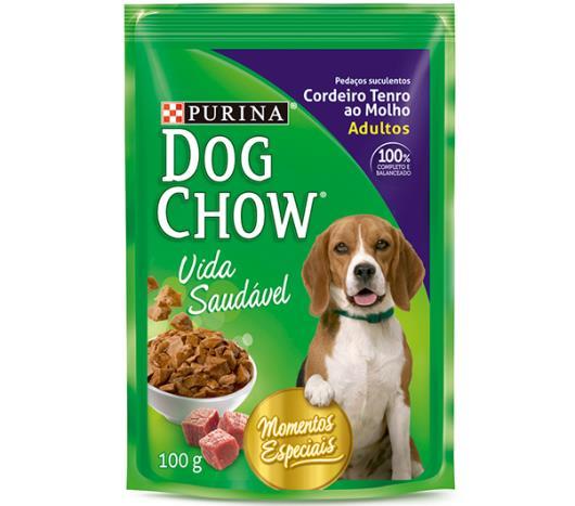 Alimento para Cães Dog Chow Adulto Cordeiro Tenro ao Molho 100g - Imagem em destaque