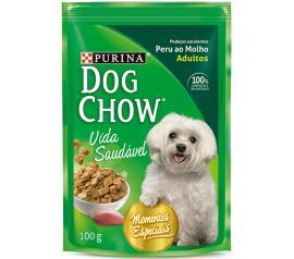 Alimento Cães Dog Chow Adulto Peru ao Molho 100g