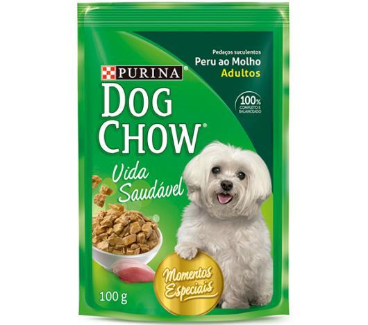 Alimento Cães Dog Chow Adulto Peru ao Molho 100g - Imagem em destaque