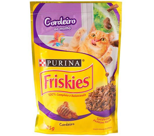 Alimento para Gato Friskies Adulto Cordeiro ao Molho 85g - Imagem em destaque