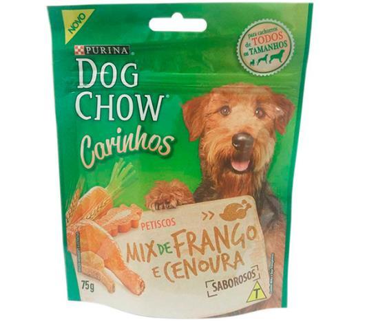 Petiscos Dog Chow Carinho Mix Frango e Cenoura 75g - Imagem em destaque