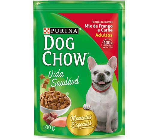 Alimento para Cães Dog Chow Adultos Mix de Frango e Carne 100g - Imagem em destaque