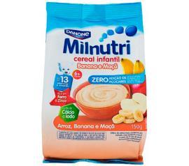 Cereal Milnutri Infantil Arroz, Banana e Maçã 150g