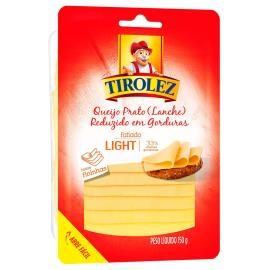 Queijo Prato Light Fatiado Tirolez 150g