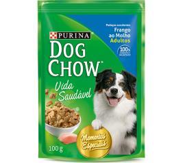 Alimento para Cães Dog Chow Adultos Frango ao Molho Sachê 100g