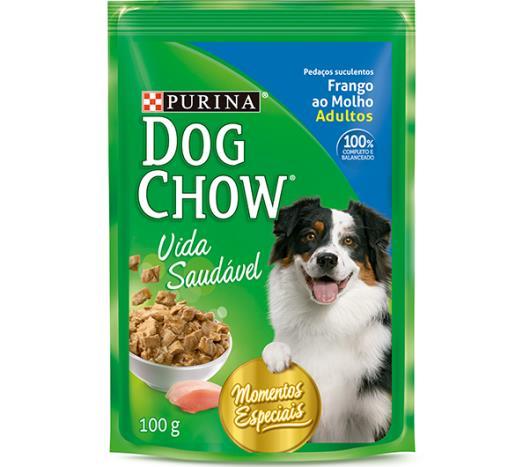 Alimento para Cães Dog Chow Adultos Frango ao Molho Sachê 100g - Imagem em destaque